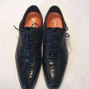 ANTONIO CERRELLI ELITE Sz 8.5 Men Black Shoes